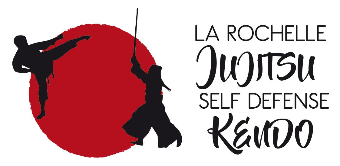 Le logo du club affilié à la fédération française de judo et disciplines associées FFJDA peésent à La Rochelle au centre ville, à l'Université et dans le quartier de Villeneuve-les-Salines.